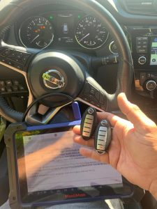 All Nissan key fobs and transponder keys require coding - Auto locksmith coding machine on-site