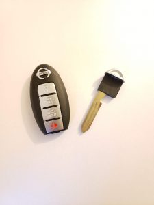 Remote key fob for a Nissan Murano