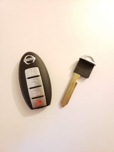Nissan key fob replacement and emergency key (KBRTN001)