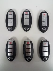 Nissan Fob Remote Car Key Replacement - 4 and 3 Buttons