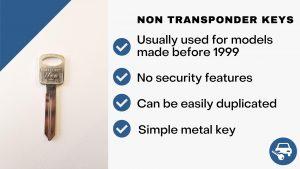 Non-transponder keys