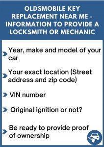 Oldsmobile key replacement near me - Relevant information
