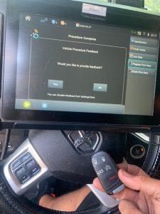 Automotive locksmith coding new Dodge key fob