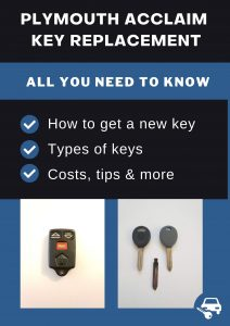 Plymouth Acclaim key replacement - All you need to know