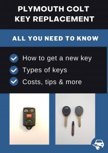 Plymouth Colt key replacement - All you need to know