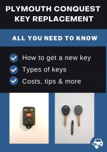 Plymouth Conquest key replacement - All you need to know