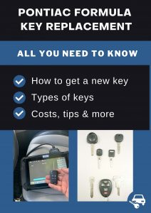 Pontiac Formula key replacement - All you need to know