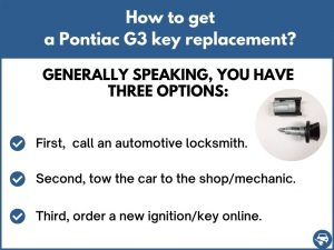 How to get a Pontiac G3 replacement key