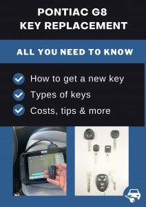 Pontiac G8 key replacement - All you need to know