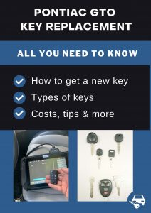 Pontiac GTO key replacement - All you need to know
