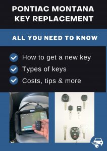 Pontiac Montana key replacement - All you need to know