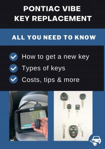 Pontiac Vibe key replacement - All you need to know
