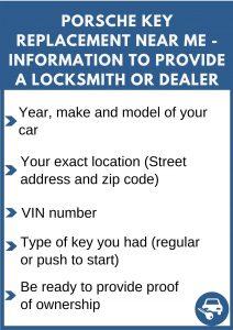 Porsche key replacement near me - Relevant information