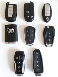 Replacement car key fobs - Different makes