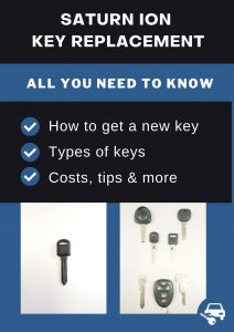 Saturn Ion key replacement - All you need to know