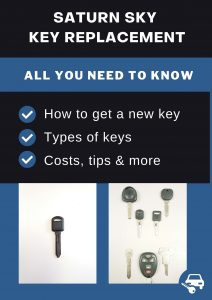 Saturn Sky key replacement - All you need to know