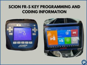 Automotive locksmith programming a Scion FR-S key on-site