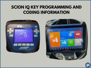 Automotive locksmith programming a Scion iQ key on-site