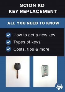 Scion xD key replacement - All you need to know