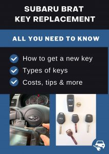 Subaru Brat key replacement - All you need to know