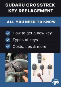 Subaru XV Crosstrek key replacement - All you need to know