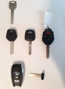 Subaru replacement car keys, fobs & remote