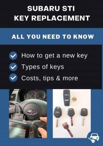 Subaru STI key replacement - All you need to know