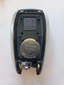 Inside look of Subaru key fob