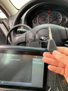 New Subaru chip keys coded on-site