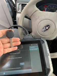 On-site coding service for Subaru transponder key