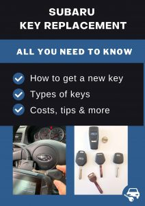 Subaru key replacement - All you need to know