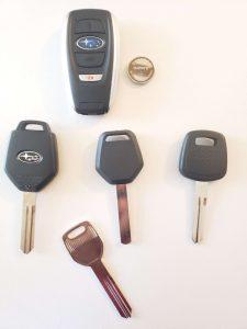 Subaru Key Replacement - Variety Of Keys