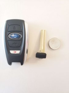 Key fob, emergency key and battery replacement - Subaru