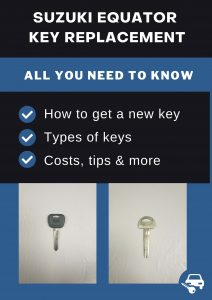 Suzuki Equator key replacement - All you need to know