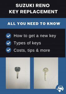 Suzuki Reno key replacement - All you need to know