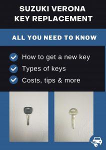 Suzuki Verona key replacement - All you need to know