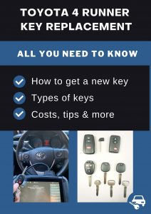 Toyota 4 Runner key replacement - All you need to know