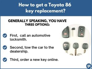How to get a Toyota 86 replacement key