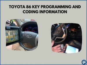 Automotive locksmith programming a Toyota 86 key on-site