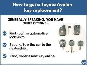 How to get a Toyota Avalon replacement key