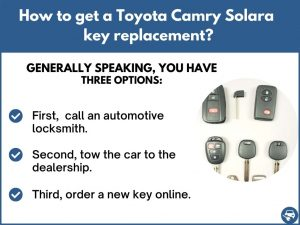 How to get a Toyota Camry Solara replacement key