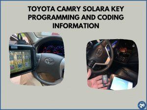Automotive locksmith programming a Toyota Camry Solara key on-site