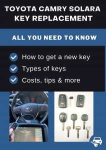 Toyota Camry Solara key replacement - All you need to know
