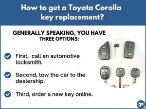 How to get a Toyota Corolla replacement key