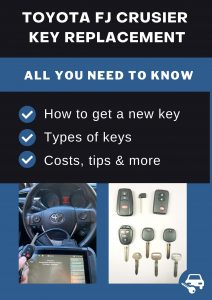 Toyota FJ Cruiser key replacement - All you need to know