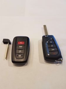 Toyota Key Fob and Emergency Key