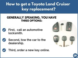 How to get a Toyota Land Cruiser replacement key