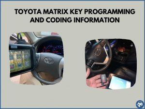 Automotive locksmith programming a Toyota Matrix key on-site