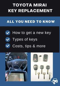 Toyota Mirai key replacement - All you need to know