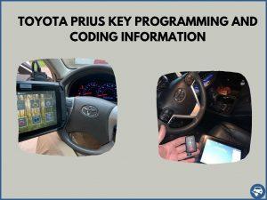 Automotive locksmith programming a Toyota Prius key on-site